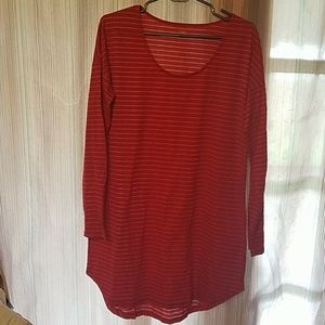 Red and silver striped tunic